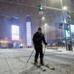 Мадрид сняг