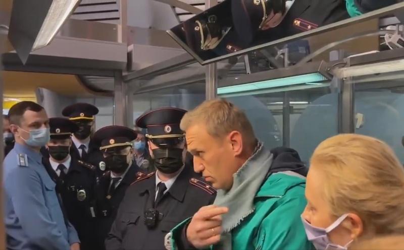 Навални арест Москва
