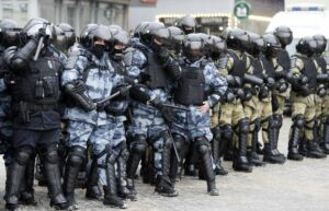 Русия протест полиция