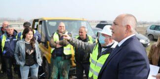 Борисов по време на инспекцията на трасето от новата магистрала Видин-Монтана