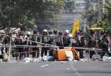В Мианмар продължават ожесточени протести