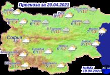 прогноза за времето днес