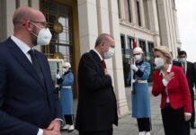 Ердоган унизи Урсула фон дер Лайен по време на визитата на ЕС Анкара