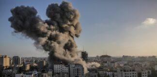 Газа обстрел