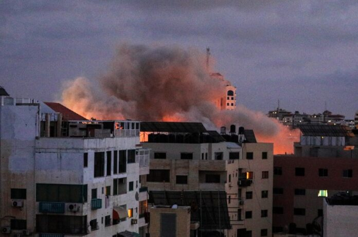 Газа бомбардировки