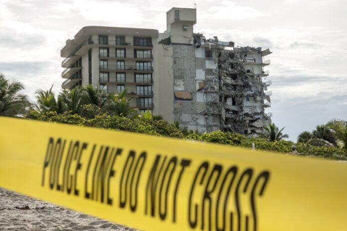 12 етажната сграда в Сърфсайд, Флорида, която се срути частично на 24 юни, 2021