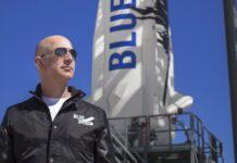 Джеф Безос излита в Космоса
