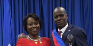 Президентът на Хаити Жвенел Мойз със съпругата си Мартин Моиз