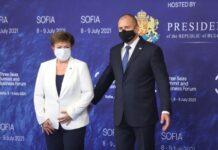 Президентът Румен Радев и директорът на МВФ Кристалина Георгиева