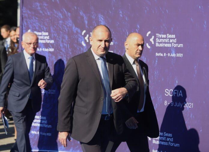 """Президентът Румен Радев по време на откриването на шестата Среща на върха на Инициативата """"Три морета"""""""