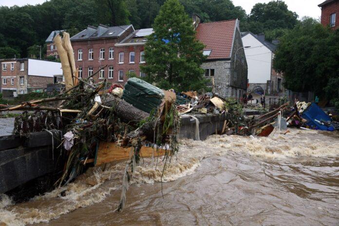 Белгия наводнениe