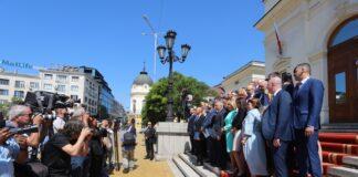Депутатите в 46-то Народно събрание позират за обща снимка