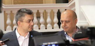 Пламен Николов и Христо Проданов дадоха брифинг след консултации в Народното събрание между ИТН и БСП