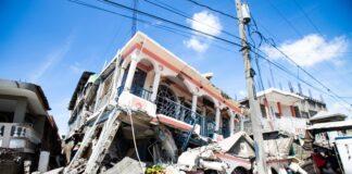 Изглед на щетите, причинени от земетресението с магнитуд 7,2 в Хаити, 14 август 2021г.