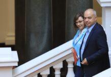 На снимката: Корнелия Нинова, Георги Свиленски