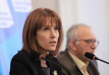 На снимката: председателят на ЦИК Камелия Нейкова