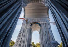Опаковане на Триумфалната арка в Париж, Кристо