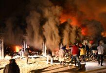 пожар в Covid отделение в болница в град Тетово