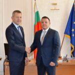 Христо Алексиев при приемане на управлението на министерството от Георги Тодоров
