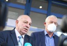 Зам. министърът на здравеопазването Александър Златанов и Проф. Петко Салчев управител на НЗОК