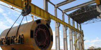 Транспорт на статор на турбогенератор - 1